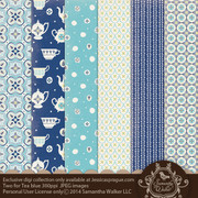 This pack features 6 decorative papers that coordinate with the Two for Tea theme!