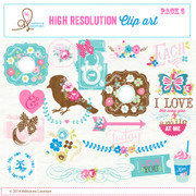Sweet Routine Clip Art Elements pack no.5