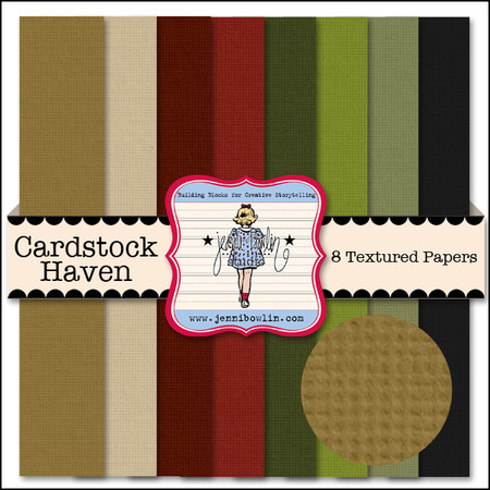 Cardstock to coordinate with Haven Patterned Papers