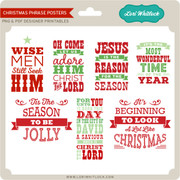 Christmas Phrase Posters