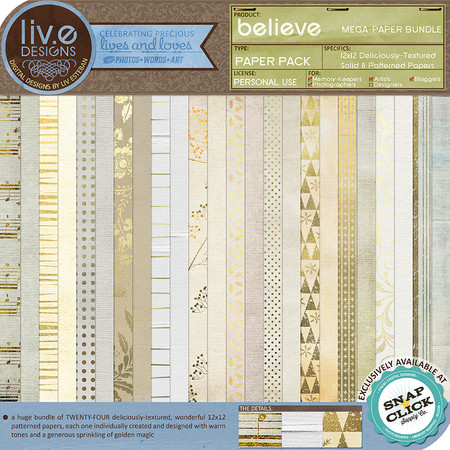 liv.edesigns Believe Mega-Paper Bundle