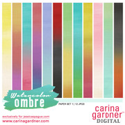 WATERCOLOR OMBRE Paper Pack 1