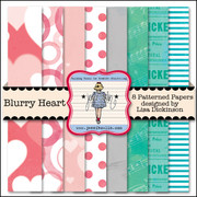 Blurry Heart Paper Kit