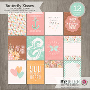 Butterfly Kisses | 3x4 Journal Cards