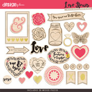 Love Stories Wood Pieces