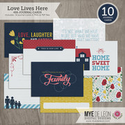 Love Lives Here | 4x6 Journal Cards
