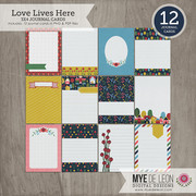 Love Lives Here | 3x4 Journal Cards