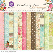 Raspberry Tea digital paper pack