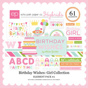 Birthday Wishes: Girl Element Pack #2