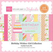 Birthday Wishes: Girl Paper Pack #1