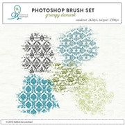 Grunge Damask Photoshop Brush set