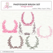 Vintage Laurels Photoshop Brush set