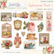 Ephemera Pack #1 Digital Clipart by Jodie Lee