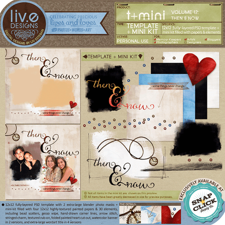 liv.edesigns T+Mini Vol.12 - Then & Now (Template + Mini Kit)