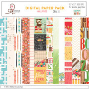 Hall Pass Digital paper set 1