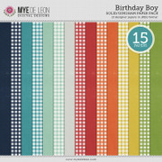 Birthday Boy | Solid & Gingham Papers