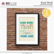 Hard Work | Handl-Lettered Quote