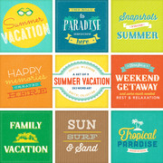 Summer Vacation - Word Art