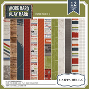 Work Hard Play Hard Paper Pack 1