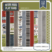 Work Hard Play Hard Paper Pack 2