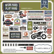 Work Hard Play Hard Element Pack 1