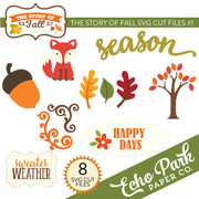 The Story of Fall SVG Die Cut Shapes #1