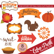 The Story of Fall SVG Die Cut Shapes #3