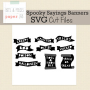 Spooky Sayings Banner Cut Files