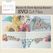 Bloom & Grow Spring Banner SVG Cut File