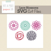 Lace Blossoms Cut File Set