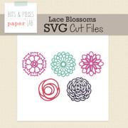 Lace Blossoms Cut File Set