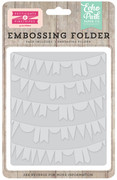 Petticoats Embossing Folder - Curved Pennant