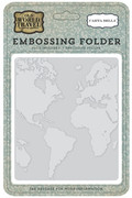 Old World Travel Embossing Folder - World Map