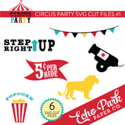 Circus Party SVG Die Cut Shapes #1