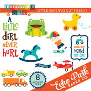 Little Man Die Cut Shapes #1