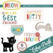 Meow SVG Die Cut Shapes #1