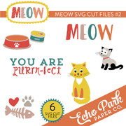 Meow SVG Die Cut Shapes #2