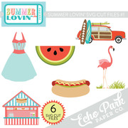 Summer Lovin SVG Cut Files #1