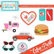 Summer Lovin SVG Die Cut Shapes #2
