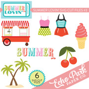 Summer Lovin SVG Die Cut Shapes #3
