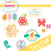 Summer Bliss SVG Die Cut Shapes #1