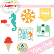 Summer Bliss SVG Die Cut Shapes #2