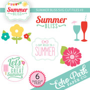 Summer Bliss SVG Die Cut Shapes #3