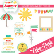 Summer Bliss SVG Die Cut Shapes #4