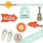 Walking On Sunshine SVG Die Cut Shapes #2