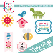 Fine and Dandy SVG Die Cut Shapes #1