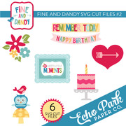 Fine and Dandy SVG Die Cut Shapes #2