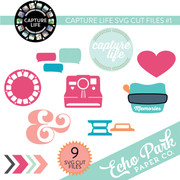 Capture Life SVG Die Cut Shapes #1