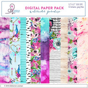Watercolor Paradise Paper Pack