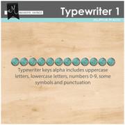 Typewriter Alpha- Turquoise